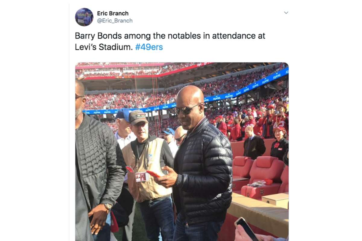 Former San Francisco Giants slugger Barry Bonds attends the NFC Divisional Round Playoff game between the San Francisco 49ers and the Minnesota Vikings at Levi's Stadium on January 11, 2020 in Santa Clara.