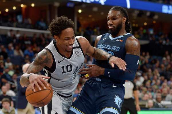 DeMar DeRozan and the Spurs are five games behind the eighth-place Grizzlies with 28 games to play.