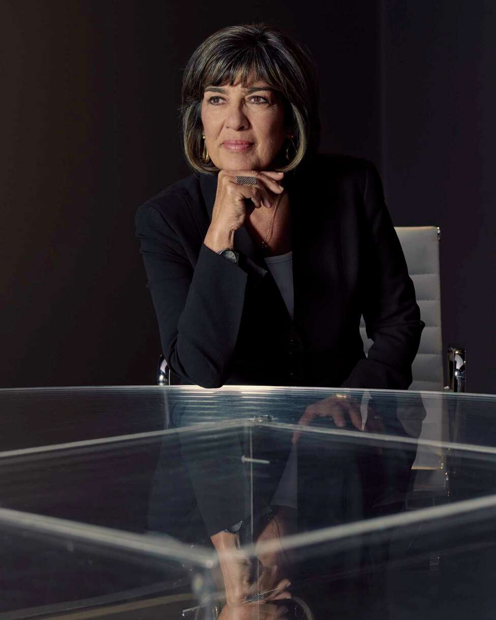 FILE -- Christiane Amanpour in a CNN studio in New York, Sept. 5, 2018. Amanpour's new show comes as older women are having a powerful moment -- one that many say is long overdue and reflects broader, and almost unnoticed changes in society. (Vincent Tullo/The New York Times)