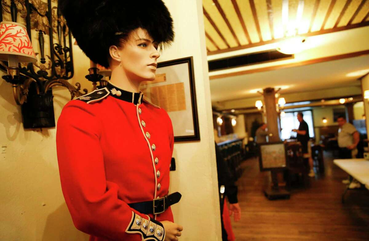 A mannequin, dressed in Queens Guard costume, was one of the items available in the estate sale at the Black Labrador.