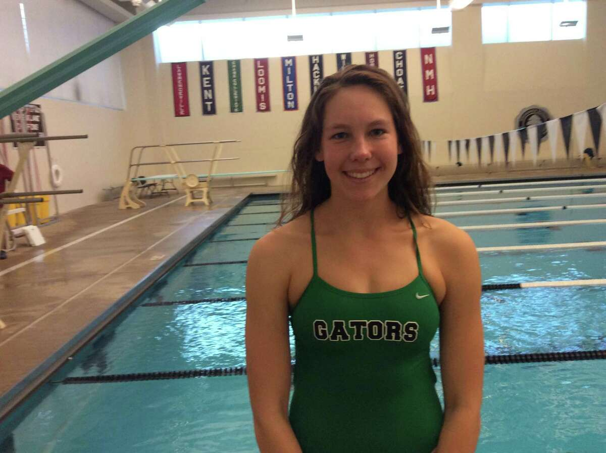 Claire Michalik is one of the captains of the Greenwich Academy swim team.