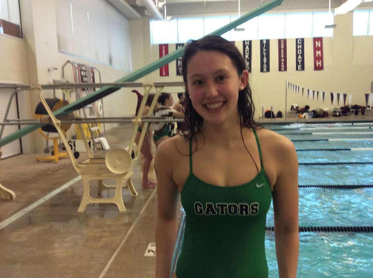 Sophia Moore helped the Greenwich Academy swim team top Phillips Exeter Academy on Saturday, January 11, 2020, in Greenwich.