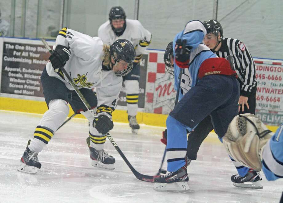 Manistee hockey fell 11-0 in a mercy-shortened game at home against Petoskey on Saturday. Photo: Kyle Kotecki/News Advocate