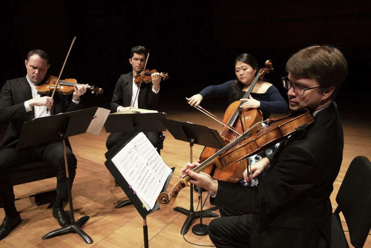 The Calidore String Quartet (photo by Tristan Cook)