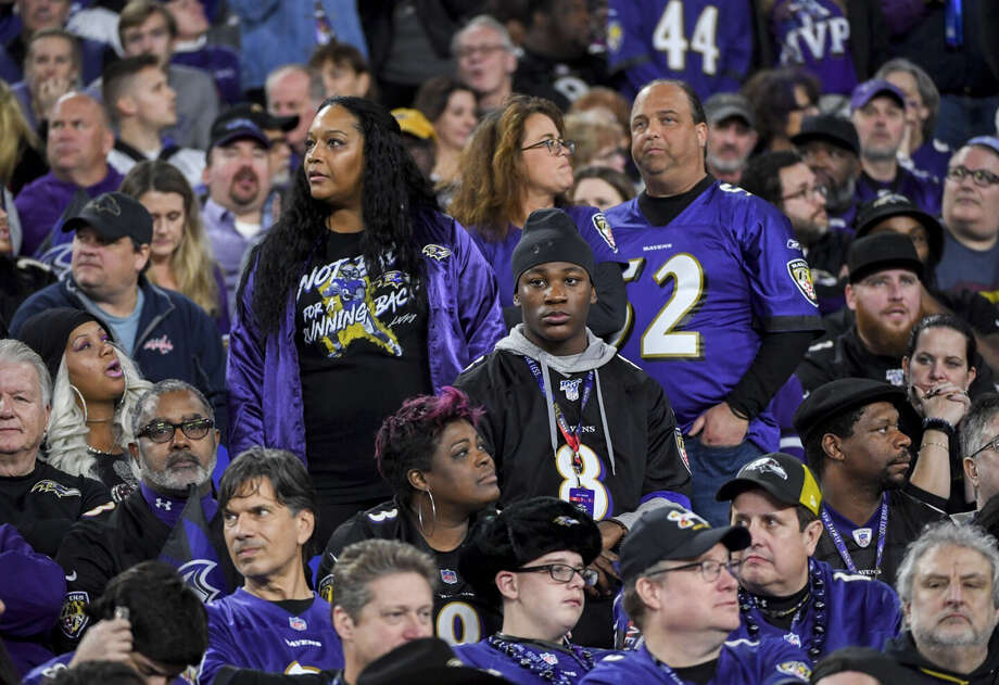 Ravens fans look on during Saturday's 28-12 loss to Tennessee at M&T Bank Stadium. Photo: Jonathan Newton / The Washington Post