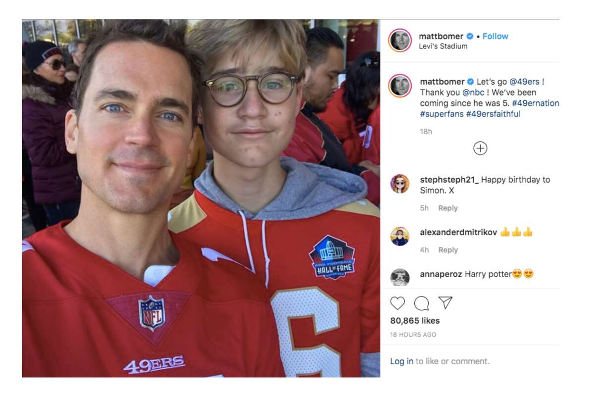 Actor Matt Bomer attends the NFC Divisional Round Playoff game between the San Francisco 49ers and the Minnesota Vikings at Levi's Stadium on January 11, 2020 in Santa Clara.