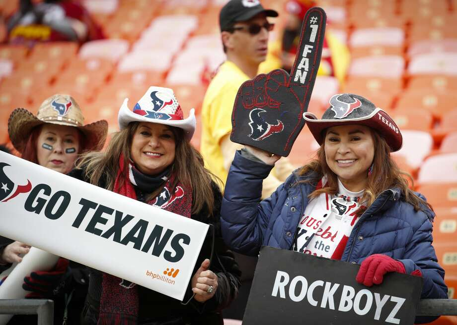 PHOTOS: Take a look at Texans fans at the playoff game in Kansas City Houston Texans fans watch warm ups before an AFC divisional playoff game against the Kansas City Chiefs at Arrowhead Stadium on Sunday, Jan. 12, 2020, in Kansas City, Mo. Browse through the photos above for a look at Texans fans at the playofff game in Kansas City Photo: Brett Coomer/Staff Photographer