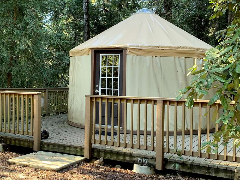 On a loop of the Valley View campground, a series of yurts nestled in redwoods are available for rent Photo: Tom Stienstra, Tom Stienstra / The Chronicle