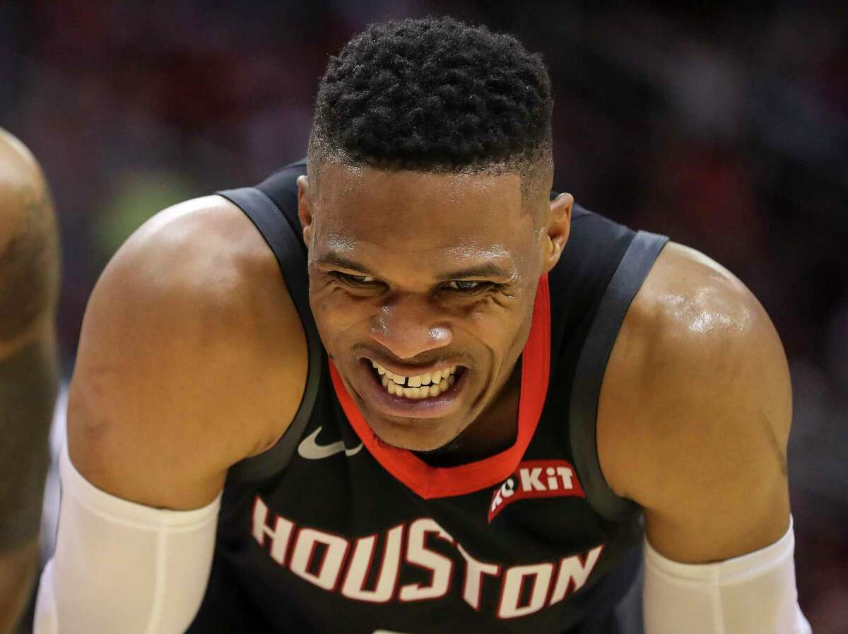 """The Rockets didn't let the Timberwolves mount any significant rally in Saturday night's blowout win, leading guard Russell Westbrook to say: """"We've got to challenge ourselves to do that better night in and night out."""""""