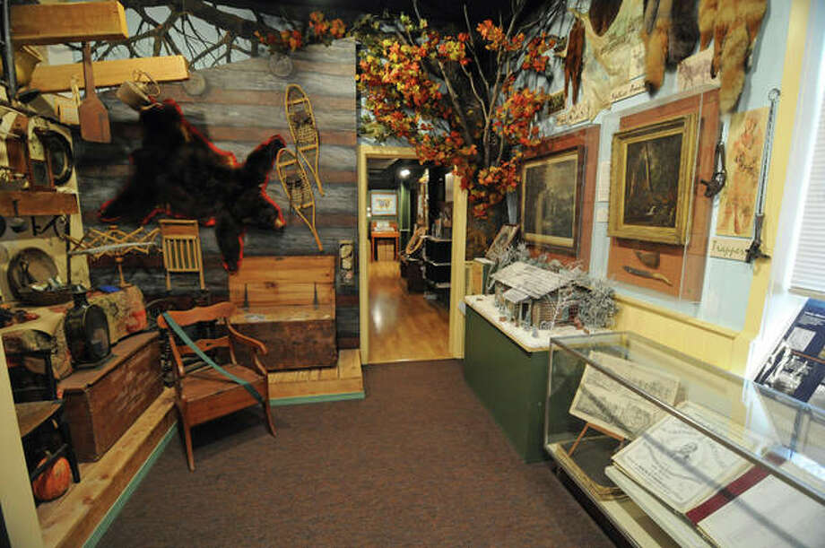A frontier exhibit gallery features relics of the past at the Alton Museum of History and Art at 2809 College Ave., Alton, in Loomis Hall, the second oldest remaining college building in Illinois.