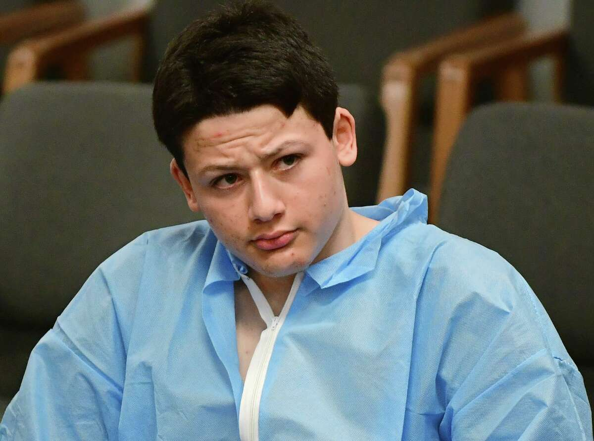 Ellis Tibere, 18, of Guilford, appears in court Jan. 7.