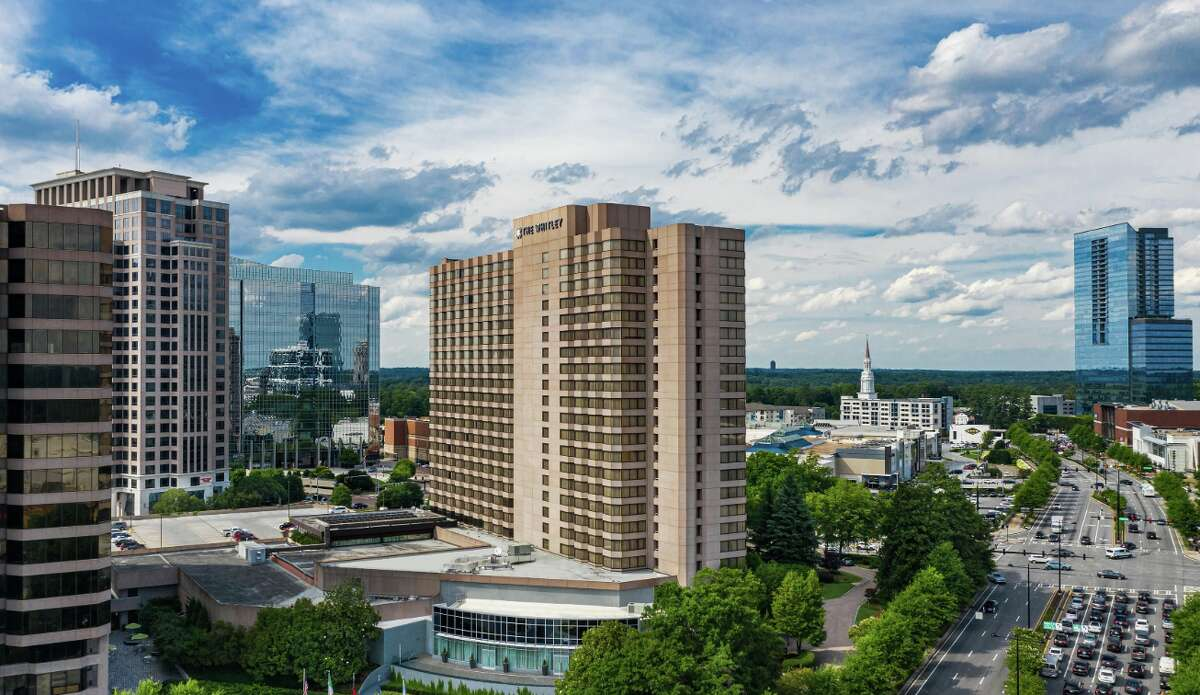 Atlanta's Whitley Hotel Buckhead stands at the corner of Peachtree Road and Lenox Road in Buckhead between the Lenox Mall and Phipps Plaza. It's an easy 5 minute walk from the Buckhead MARTA station. Self parking rates are $18 per day.