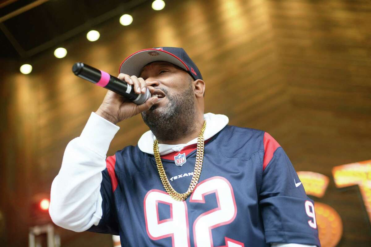 Tito's Made to Order: South on Sept. 10 at 7 p.m. will include performances by Houston rapper Bun B and country music singers Morgan Wallen and Dierks Bentley. Pictured: Bun B performs during the Houston Texans playoff watch party at The Rustic in Downtown Houston on Sunday January 12, 2020