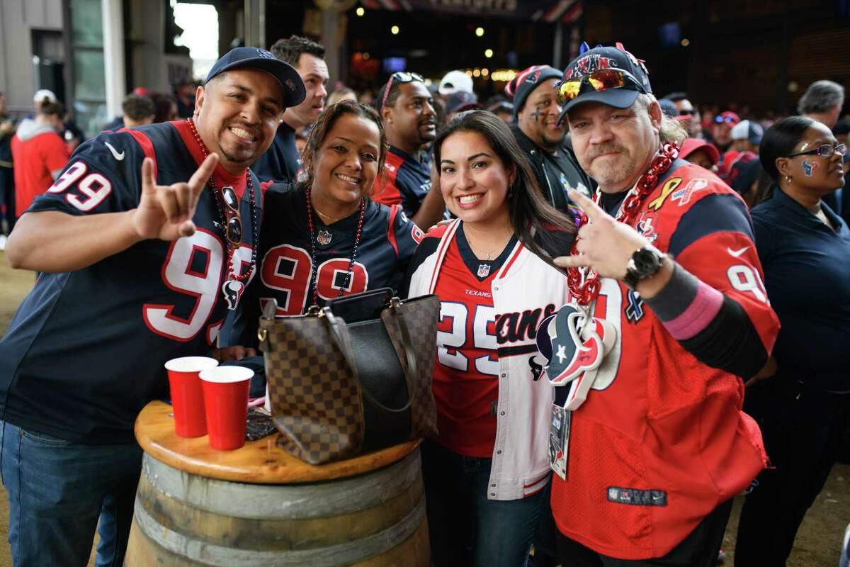 Houston Texans playoff watch party at The Rustic in Downtown Houston on Sunday January 12, 2020