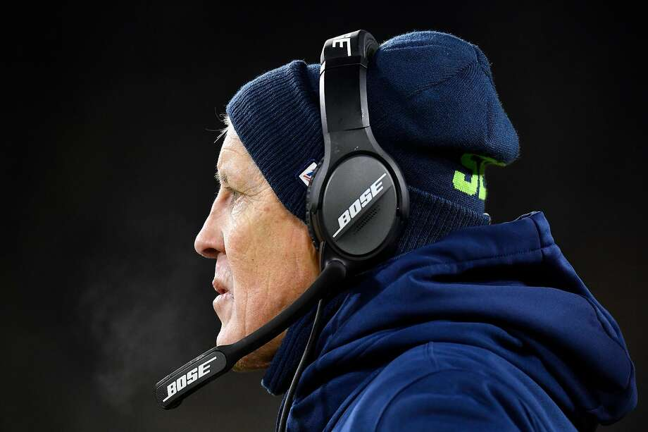 GREEN BAY, WISCONSIN - JANUARY 12: Head coach Pete Carroll of the Seattle Seahawks watches play as they take on the Green Bay Packers in the third quarter of the NFC Divisional Playoff game at Lambeau Field on January 12, 2020 in Green Bay, Wisconsin. (Photo by Quinn Harris/Getty Images) Photo: Quinn Harris, Getty Images