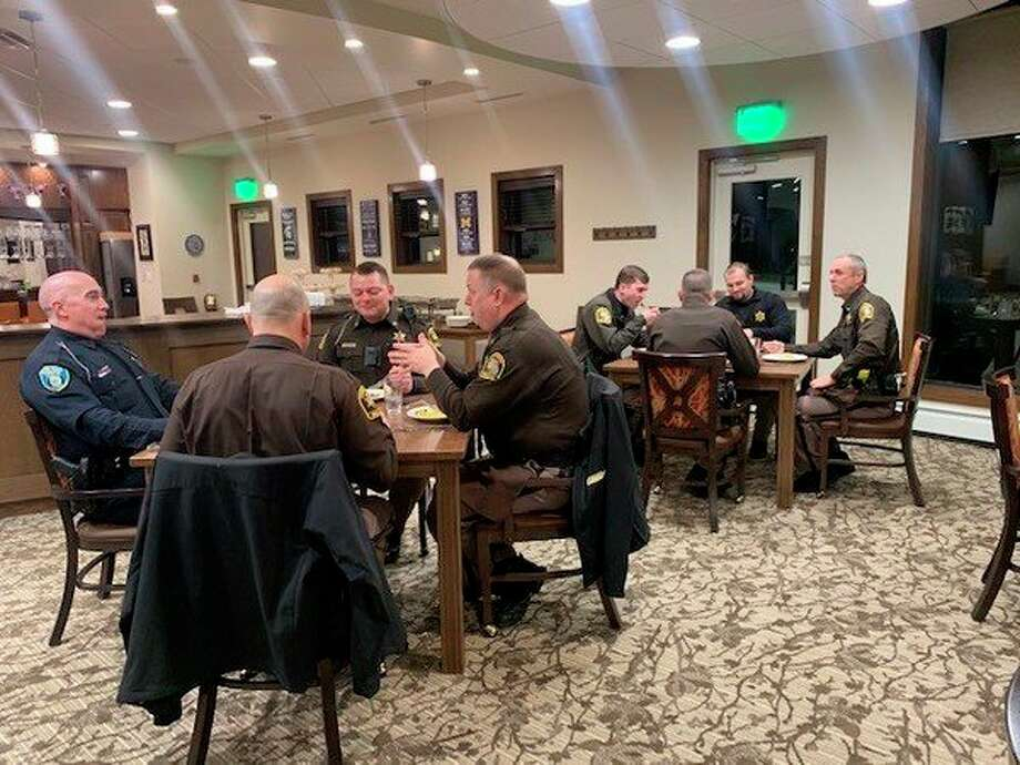 Law enforcement officials recently were honored by a local retirement community. (Photo provided)
