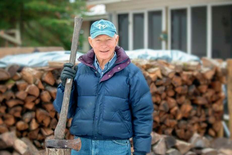 Jim Dorrance likes to maintain an active lifestyle and enjoys splitting wood, working with power tool and managing the sails on a race boat, among other things. (Photo provided/Mid Michigan Health)
