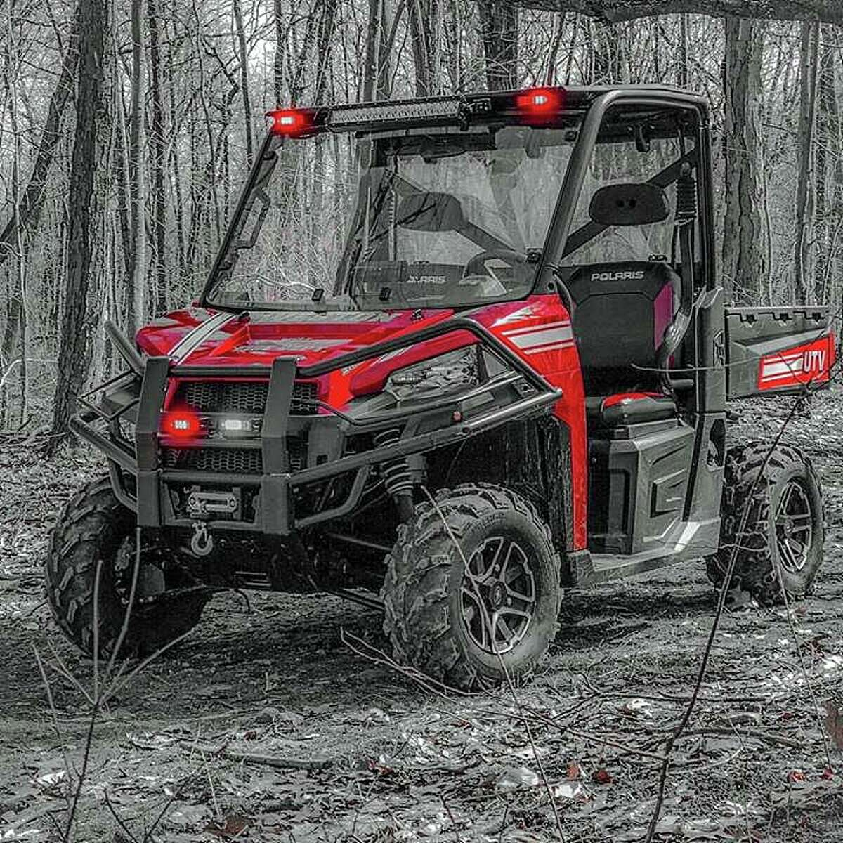 The searchers used a UTV rescue vehicle to locat two people who became lost in the Devil's Den Preserve on Sunday, Jan. 12, 2020.