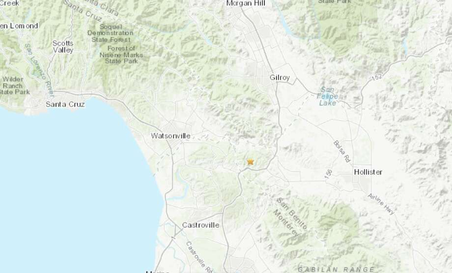 A magnitude 3.3 earthquake struck Monday, Jan 13th near Aromas, CA. Photo: USGS