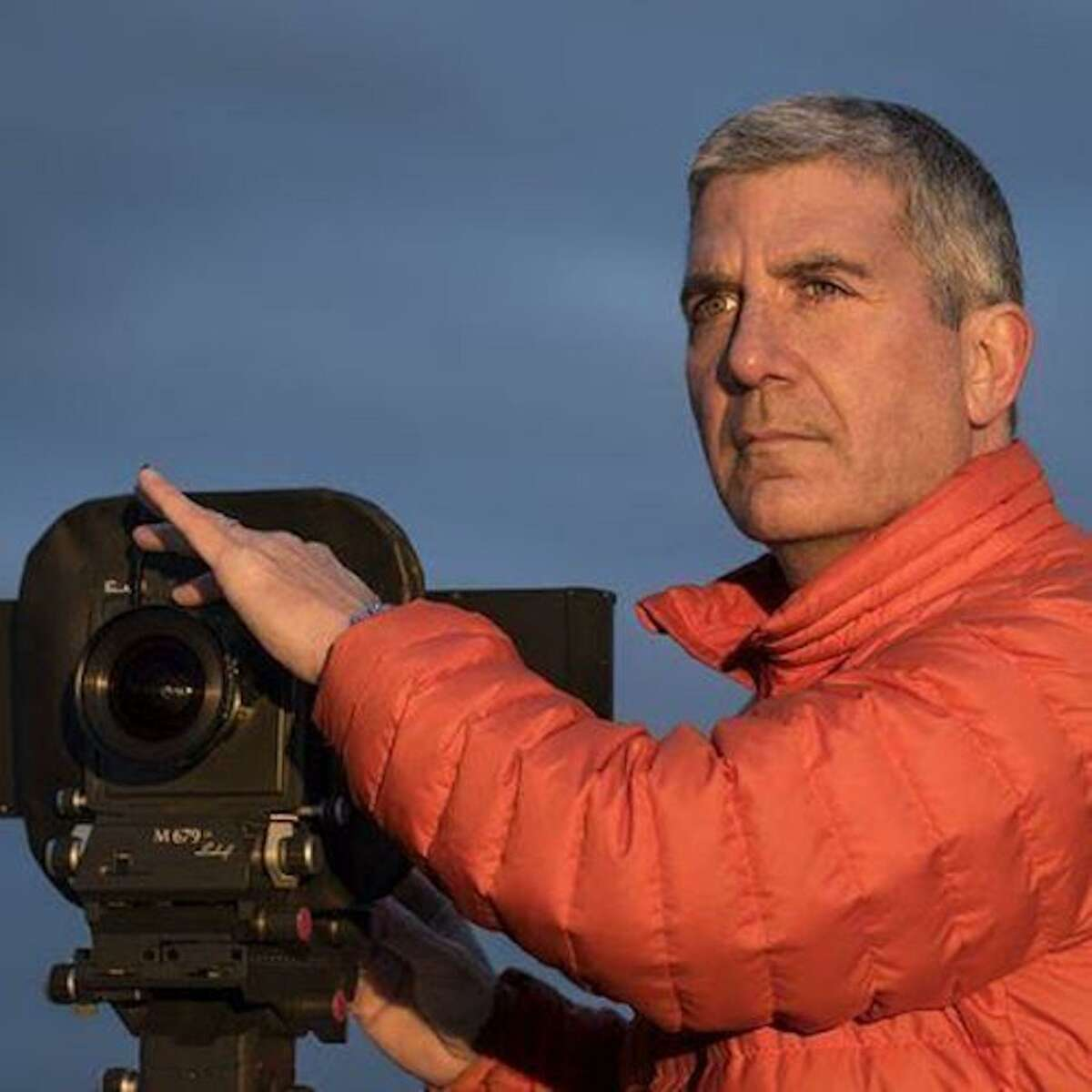 """Photographer Stephen Wilkes, who juried the Carriage Barn Arts Center's 40th annual Photography Show, visited his exhibit titled: """"Day to Night,"""" and signed copies of his recently published Taschen monograph on Sunday, January 26, 2020, at 3 p.m. at the Carriage Barn in New Canaan. Pictured is Stephen Wilkes."""