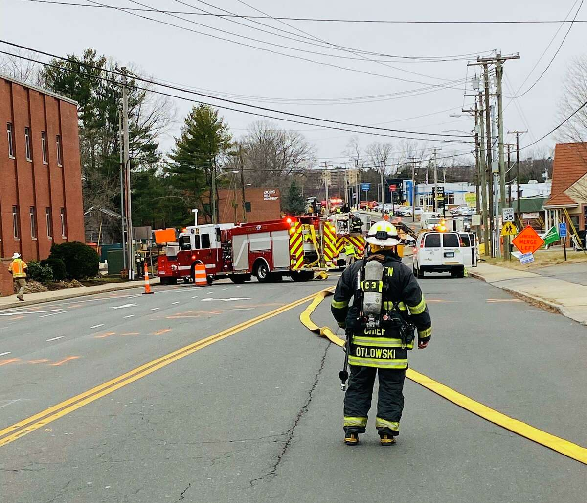Skiff Street is closed to both vehicular and pedestrian traffic because of a gas leak on Monday, Jan. 13, 2020.