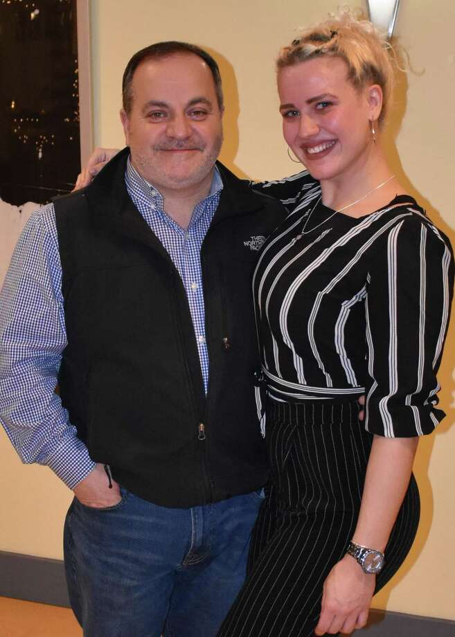 Joe Marotta with dance professional, Sanja Pavlovic, of the Fred Astaire Dance Studio, which is located at 314 Westport Ave., in Norwalk. Photo: Contributed Photo
