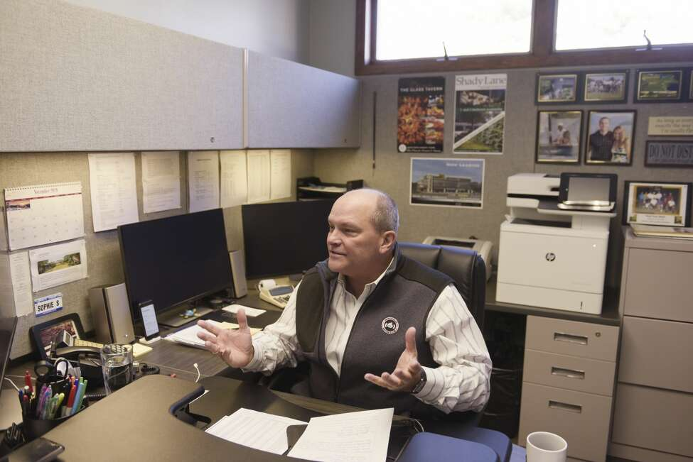 Bill Socha, president of Socha Management, talks about his business during an interview in his office on Monday, Dec. 23, 2019, in Glenville, N.Y. (Paul Buckowski/Times Union)