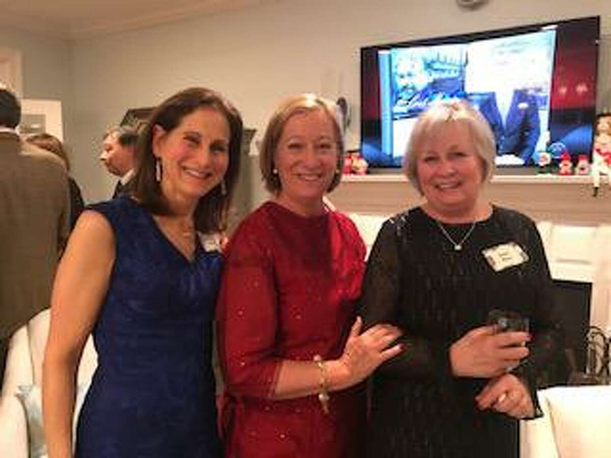 Alison Glerum, Wendy Hurst and Robin Miner at an Encore Club of New Canaan holiday party.