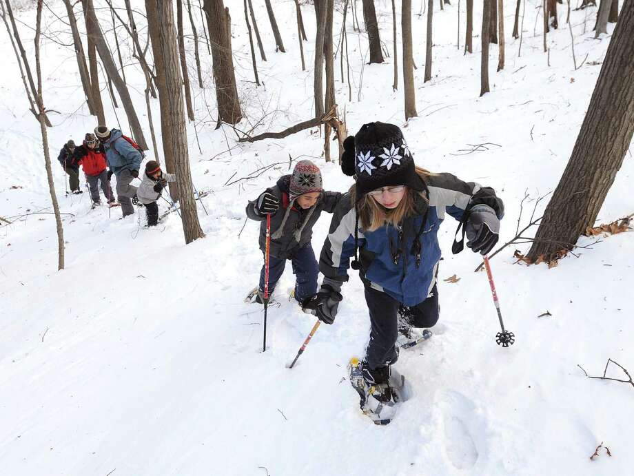 A Snowshoe Walk will be held on Jan. 25 at 1 p.m. at the CT Audubon's Center at Fairfield, 2325 Burr Street, Fairfield. The walk is for ages 10 and up. Tickets are $10-$13. Registration online at ctaudubon.org/2019/12/snowshoe-walk. Photo: /