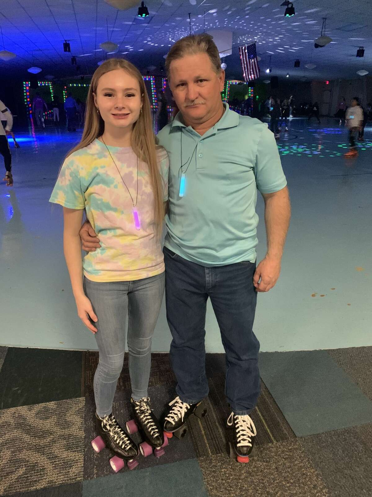 Roller skating: Joely Mathes, left, and Joe Mathes
