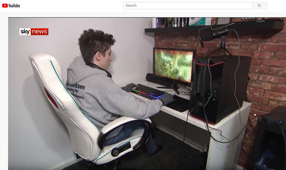 Aidan Jackson, 17, who lives in Widnes, England was playing an online game when he suffered a seizure, according to the Liverpool Echo. His online partner, Dia Lathora, who lives in Texas contacted first responders in the UK to get him help. Photo: Sky News/YouTube