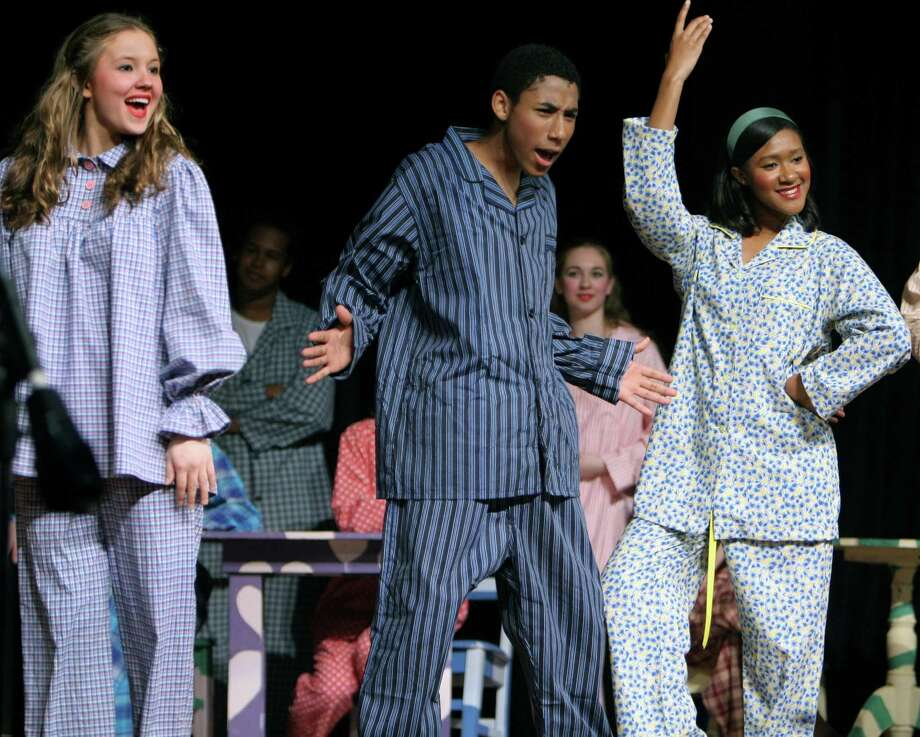"High school students perform ""Pajama Game."" Photo: Hearst Connecticut Media File Photo / Handout CD"