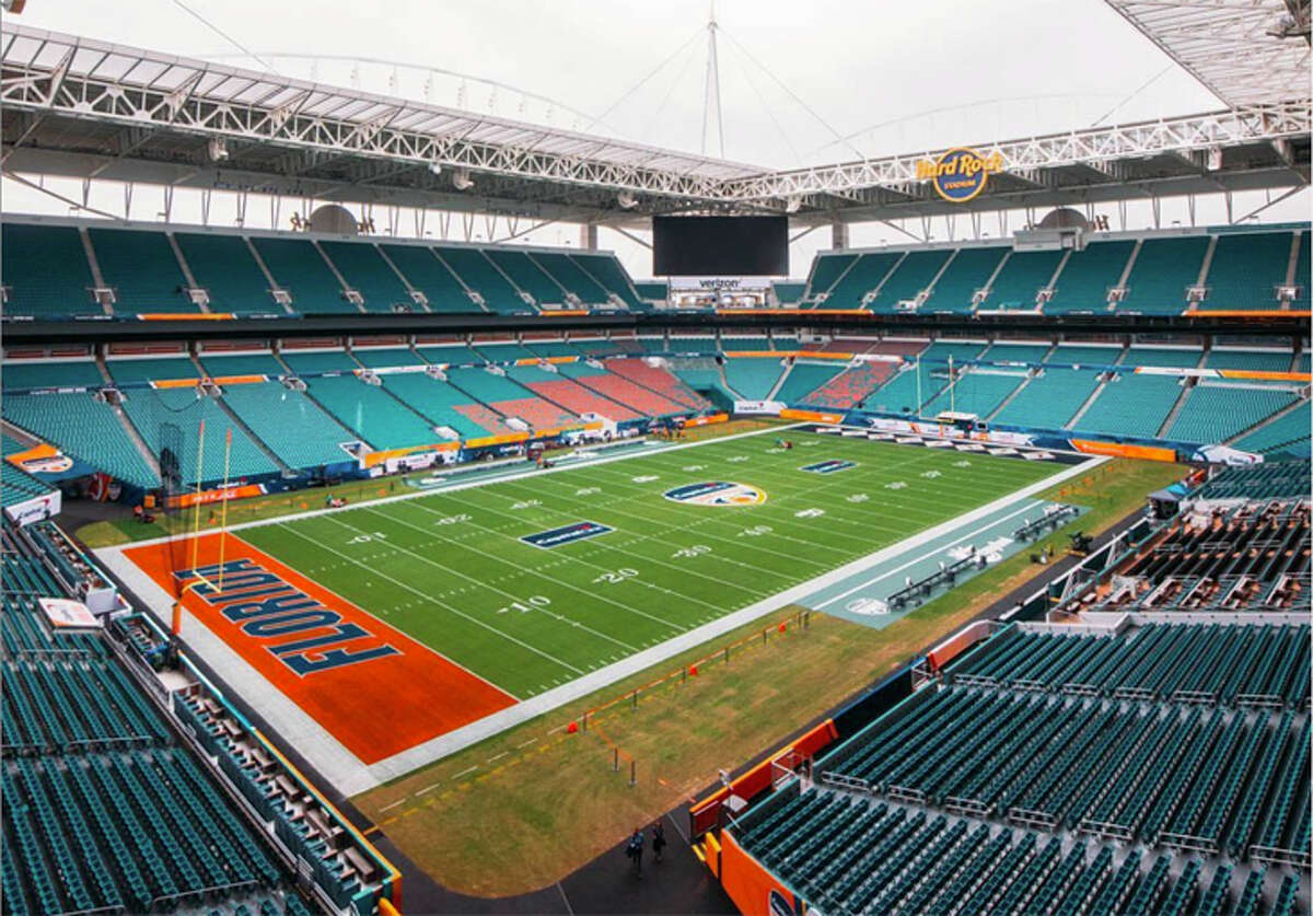The Super Bowl will be played in Hard Rock Stadium, the Miami Dolphins' home field.