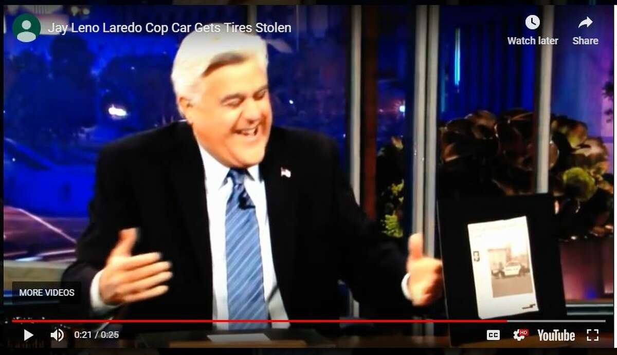 Jay Leno is shown featuring a newspaper clipping of the article during 'The Tonight Show'