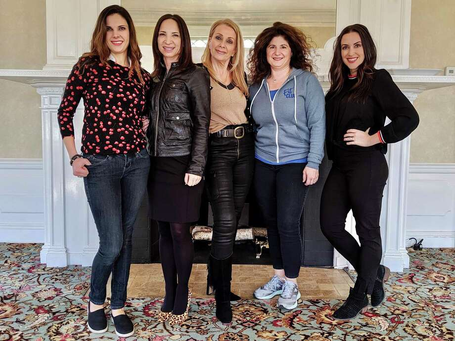 Brenda Lanzilli, Amy Pal, Suzanne Brennan, Jenny Conciatore, and Erin Bryant at Lounsbury House. Photo: Crissi Grimaldi / Contributed Photo