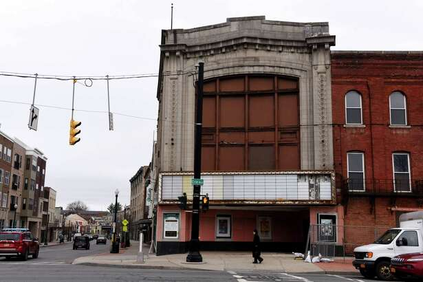 Exterior of the Wedgeway building on Monday, Jan. 13, 2020, in Schenectady, N.Y. City officials will try to determine if the landmark building at the corner of Erie Boulevard and State Street is safe for habitation. (Will Waldron/Times Union)