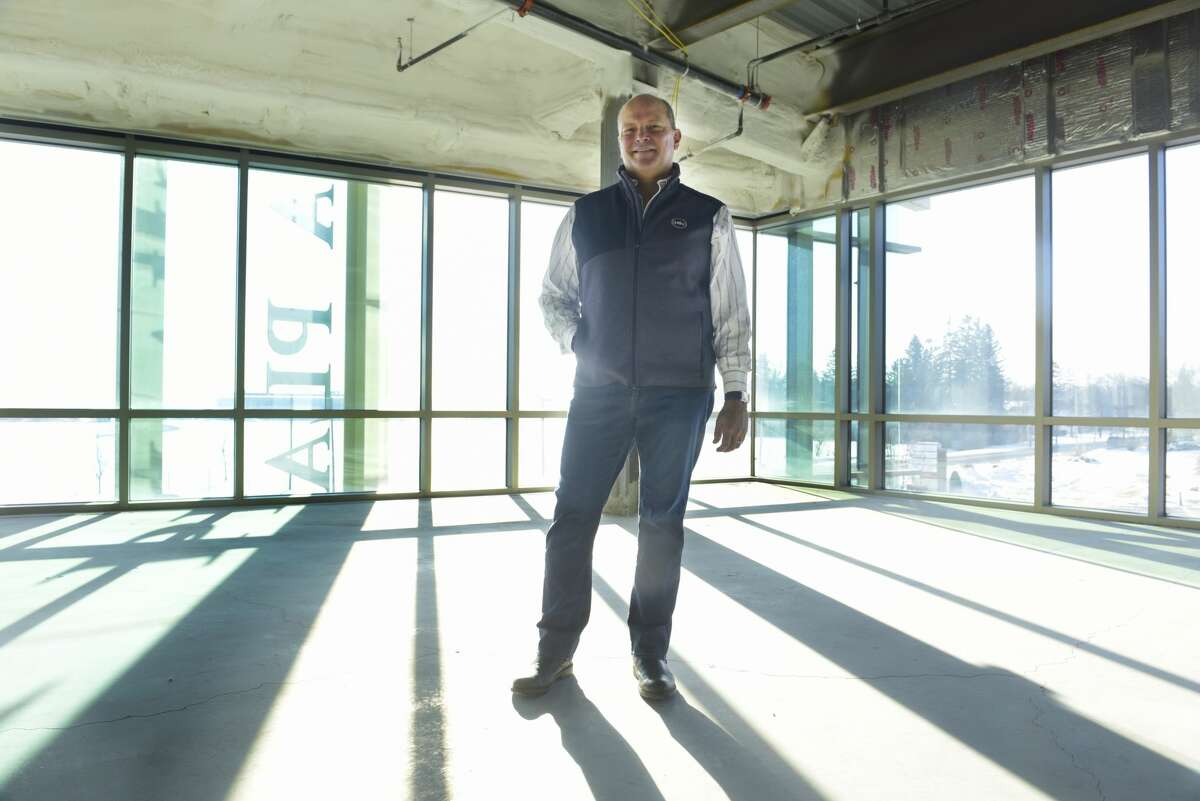 Bill Socha, president of Socha Management, poses for a photo inside 115 Socha Plaza building, a space open for rental, on Monday, Dec. 23, 2019, in Glenville, N.Y. (Paul Buckowski/Times Union)