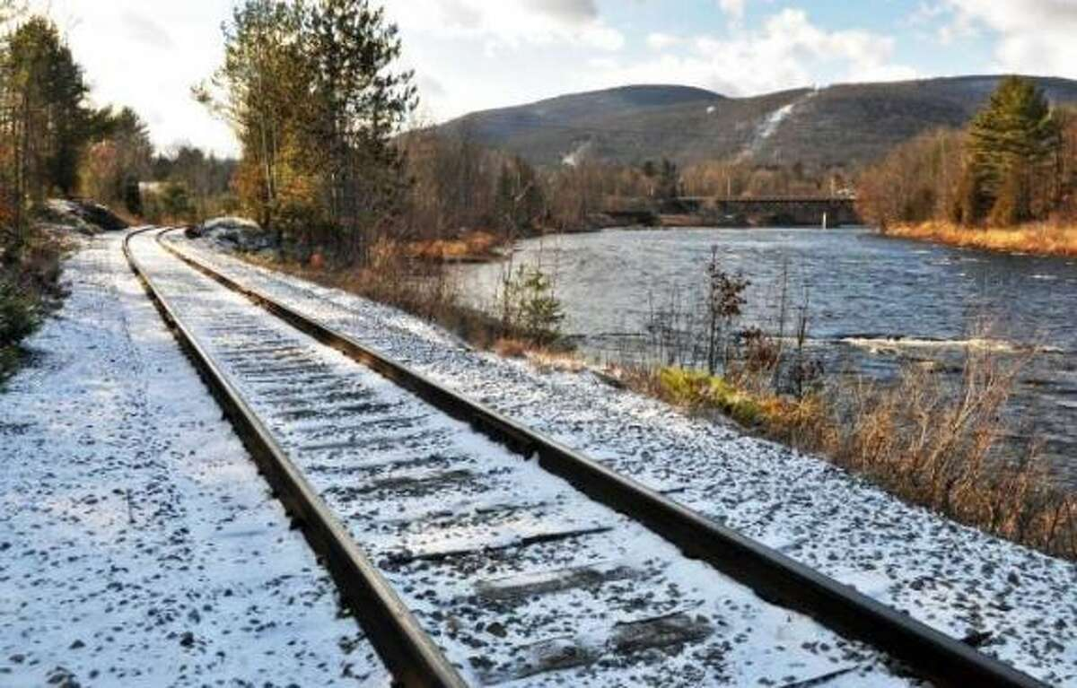 Rail tracks along River Road in North Creek Thursday Dec. 8, 2011.