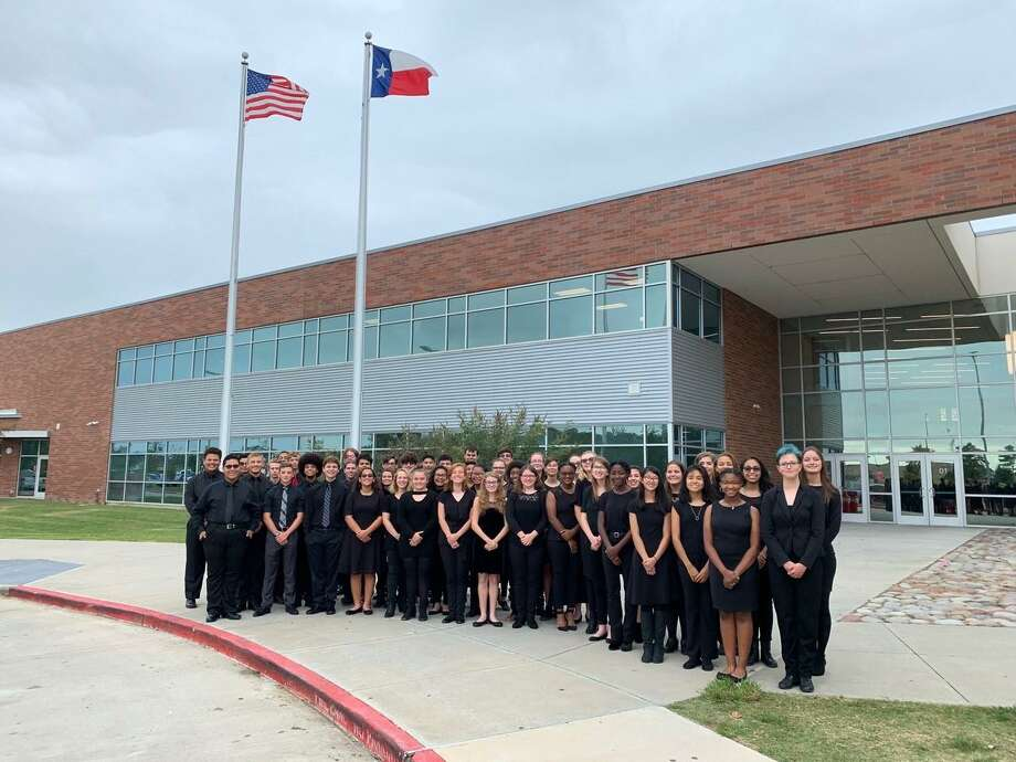The Crosby High School band stands in front of Crosby High School Photo: Kevin Knight, Crosby ISD