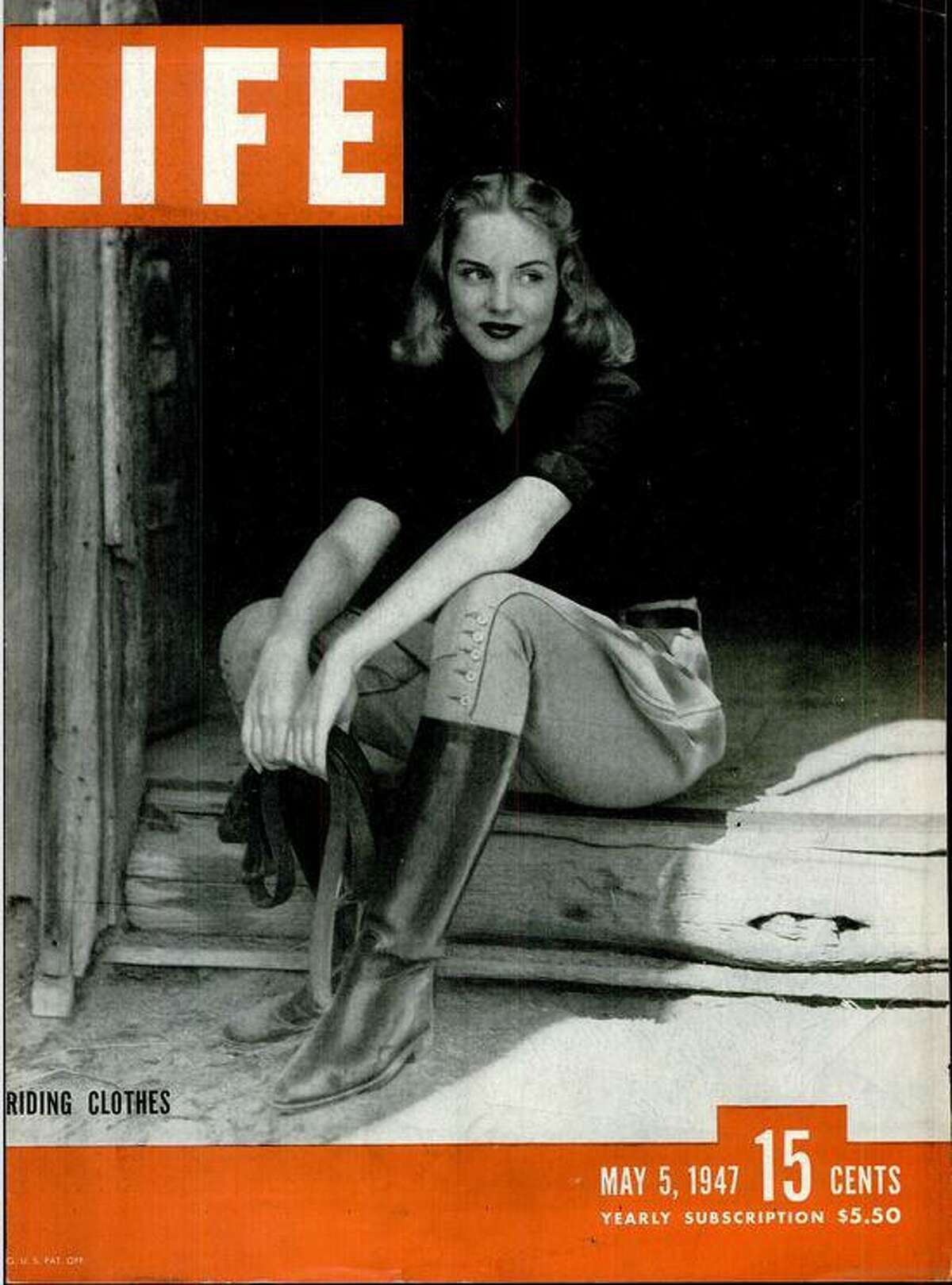 Judith Jackson on the cover of Life magazine, 1947.