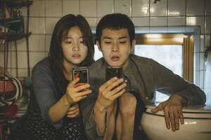 "So-dam Park (left) and Woo-sik Choi star in the Academy Award-nominated ""Parasite."""