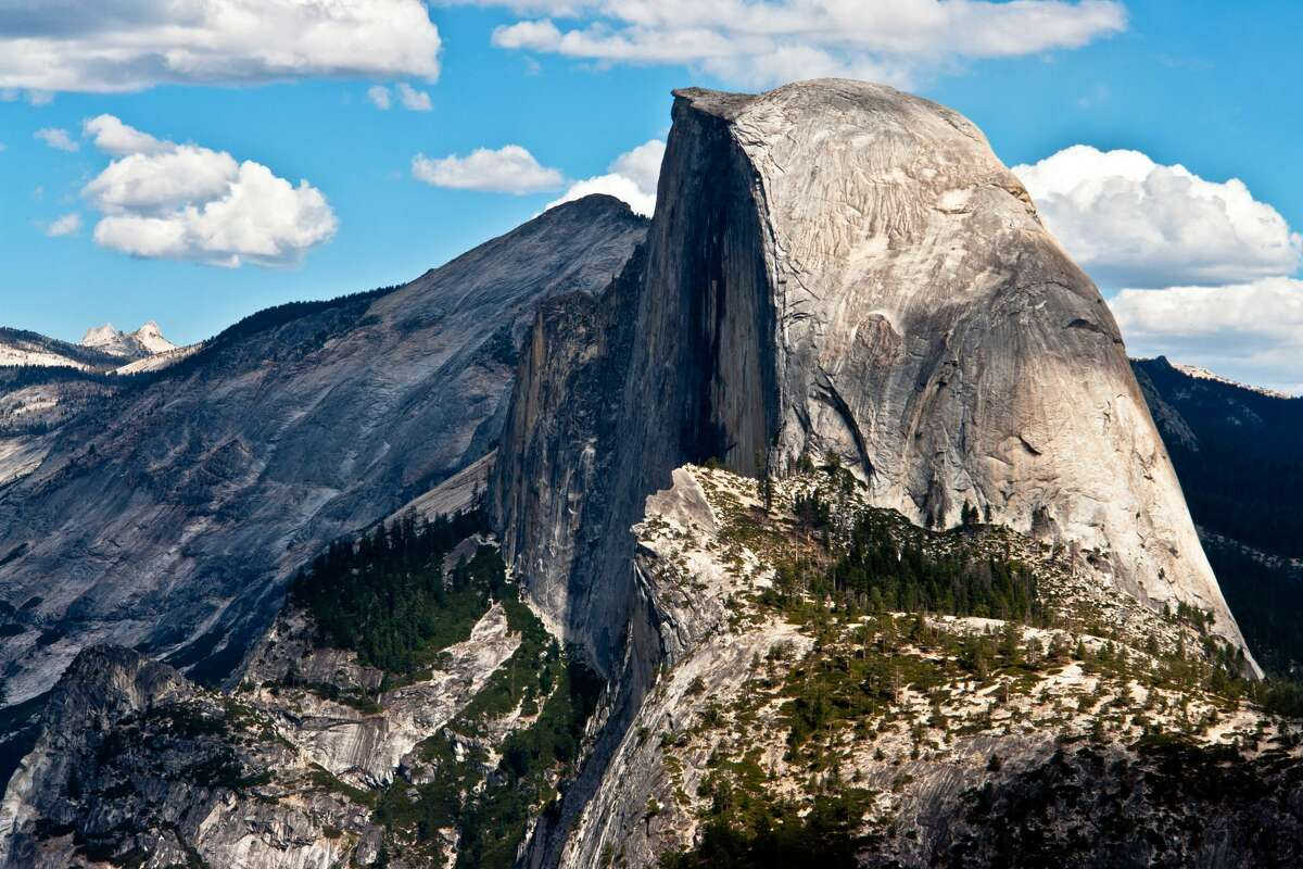 Half Dome as seen from Glacier Point in Yosemite National Park, California.