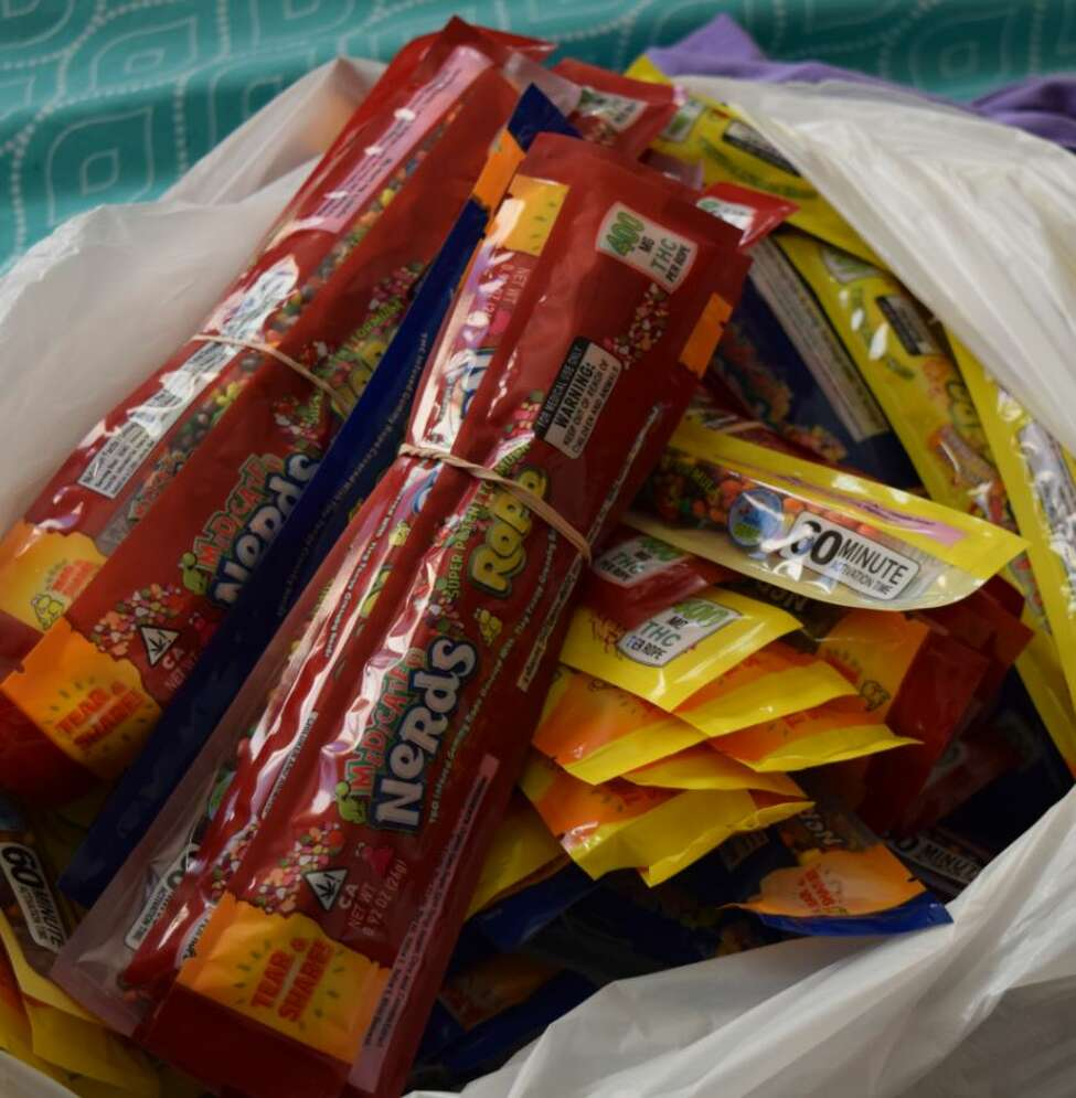 Candy containing THC. (Photo courtesy of the State Police)