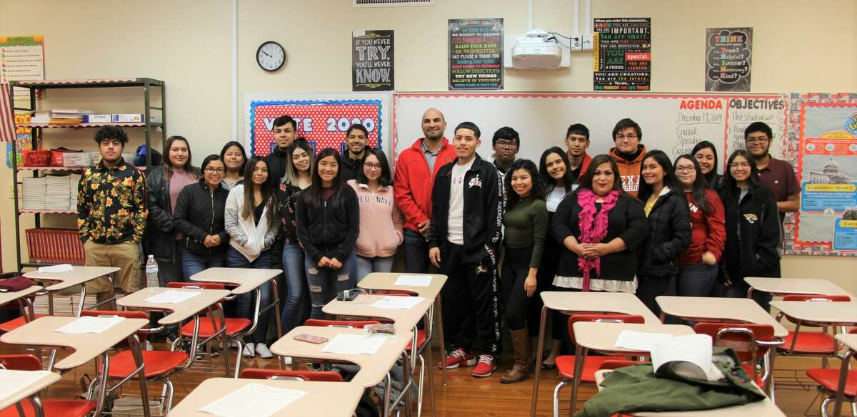 After surprising a Martin government class this week, Webb County Judge Tano Tijerina plans to continue educating local students about their county and the importance of local government.