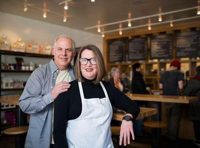 Josh Harris and Carol LeValley own of Marin County's Rustic Bakery, which won for its flatbread bites.