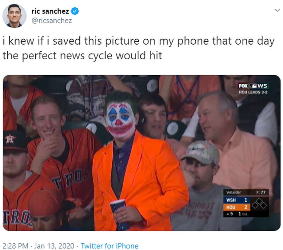PHOTOS: The best memes from the Astros' housecleaning on Monday Source: Twitter.com/ricsanchez Photo: Twitter.com/ricsanchez