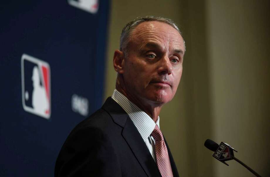 Major League Baseball Commissioner Rob Manfred released a report on the investigation of the Houston Astros on Monday. Photo: Washington Post Photo By Toni L. Sandys / The Washington Post