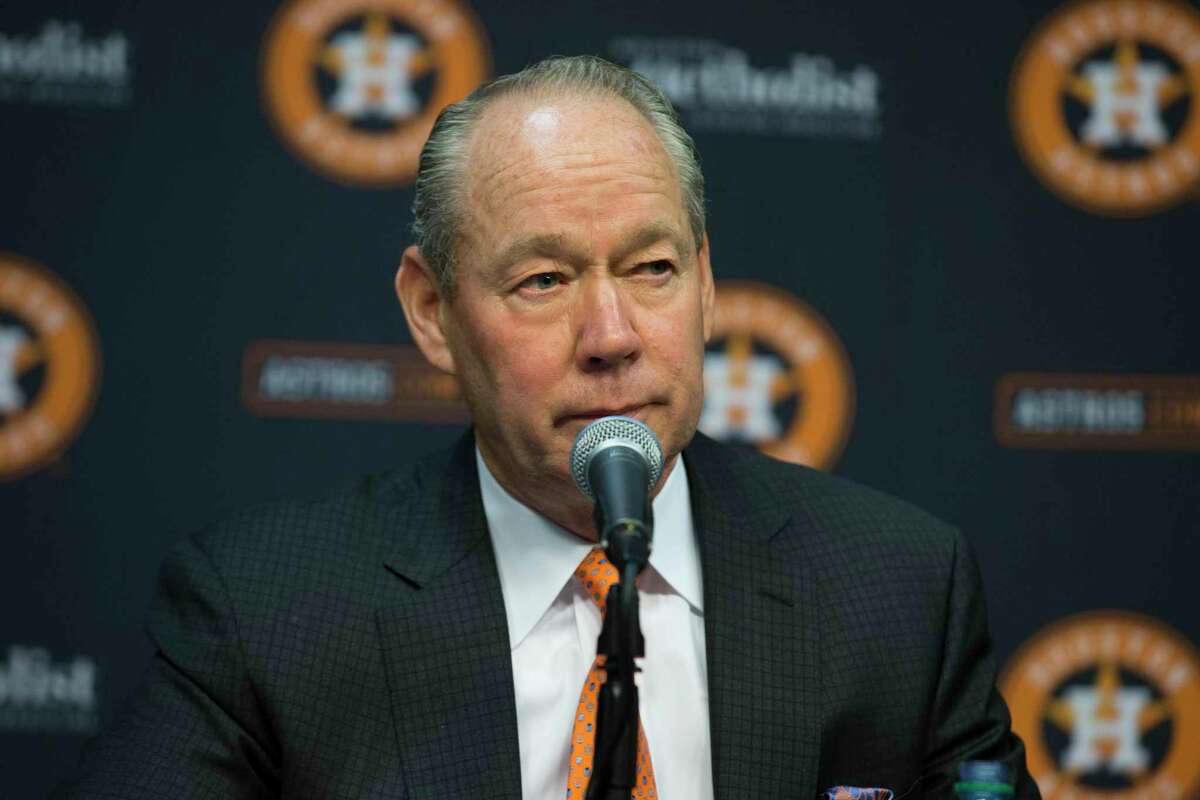 Astros owner Jim Crane held a Monday news conference at Minute Maid Park, where he announced the firings of manager A.J. Hinch and general manager Jeff Luhnow after an MLB investigation on sign-stealing by the club.
