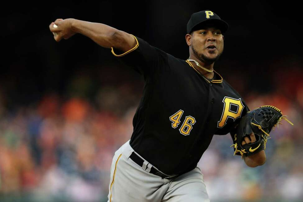 WASHINGTON, DC - MAY 02: Starting pitcher Ivan Nova #46 of the Pittsburgh Pirates works the first inning against the Washington Nationals at Nationals Park on May 2, 2018 in Washington, DC. (Photo by Patrick Smith/Getty Images)