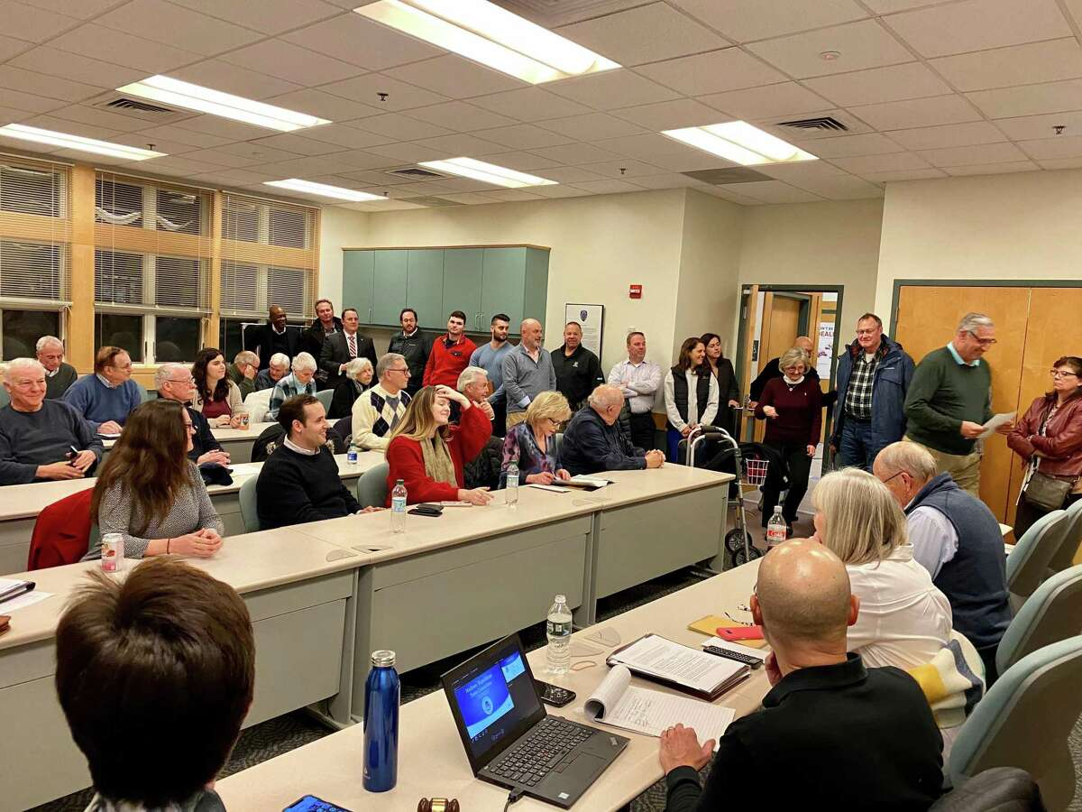 A Republican Town Committee meeting in Madison Jan. 13, 2020. Members voted that evening to recommend Bruce Wilson to fill a vacancy on the Board of Selectmen.